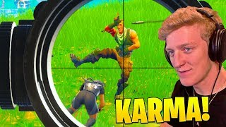 Tfue INSTANT KARMA vs SAVAGE Stream Snipers in FORTNITE!