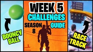 Fortnite Season 8 WEEK 5 Challenges Guide - How to Finish All Week 5 Challenges Easily - Best Tips