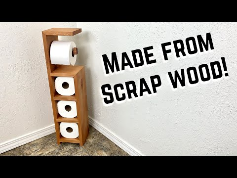 DIY Toilet Paper Holder | Scrap wood #BUILDATHOME Project