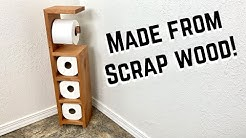 DIY Toilet Paper Holder | Scrap wood #BUILDATHOME Project