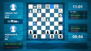 Chess Game Analysis: ulderick 1947 - Argento2019 : 0-1 (By ChessFriends.com)