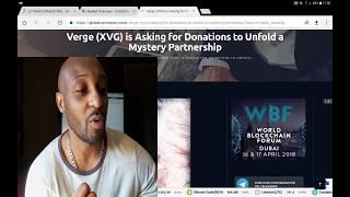 #VERGE demande de dons afin de révéler un partenariat mystérieux ?¿?¿?¿