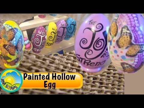 Decorating a hollow linden wood egg using acrylic paint and decoupage