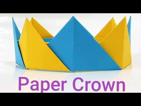 How to make paper crown, easy paper DIY origami at home