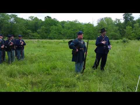 Civil War Infantry demonstration at Gettysburg National Military Park