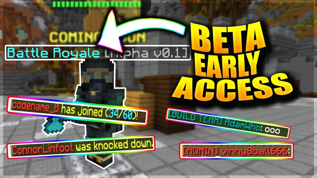 Hypixel Battle Royale Beta Early Access! (Ft Admin and Staff!)