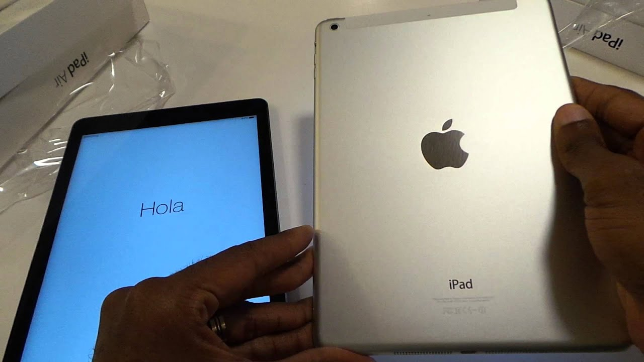 Apple iPad Air 4GLTE Space Gray and White Silver ...