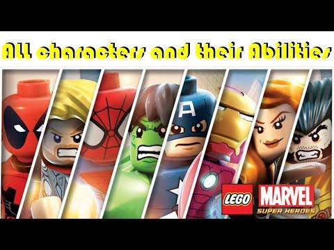 ALL LEGO Marvel Superheroes Characters & Abilities (non-DLC)