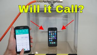 Can You Call an iphone in a Vacuum Chamber? 4 Different Signal Tests!