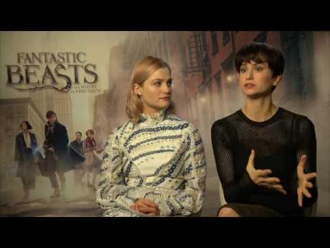 Alison Sudol & Katherine Waterstone London Press Junket