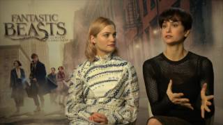 Alison Sudol & Katherine Waterstone London Press Junket