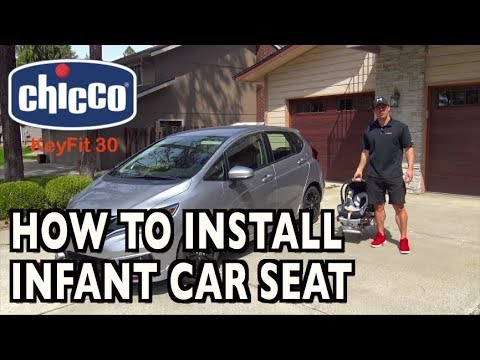 How To Install An Infant Car Seat Featuring Chicco KeyFit 30 On Everyman Driver