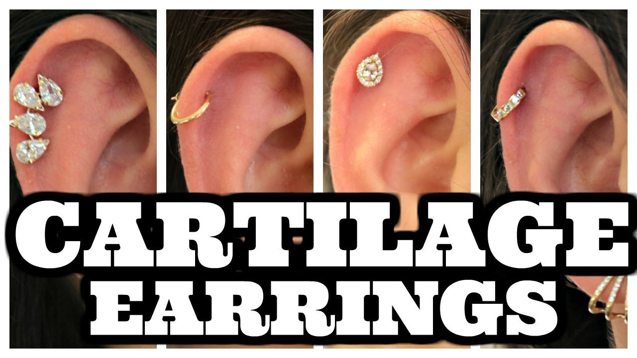 Cartilage Earrings Different Styles Of Hoops Studs For Cartilage