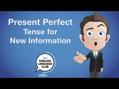 English Grammar: Present Perfect For New Information 👍