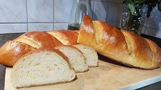 Батон на кефире, белый хлеб!!!