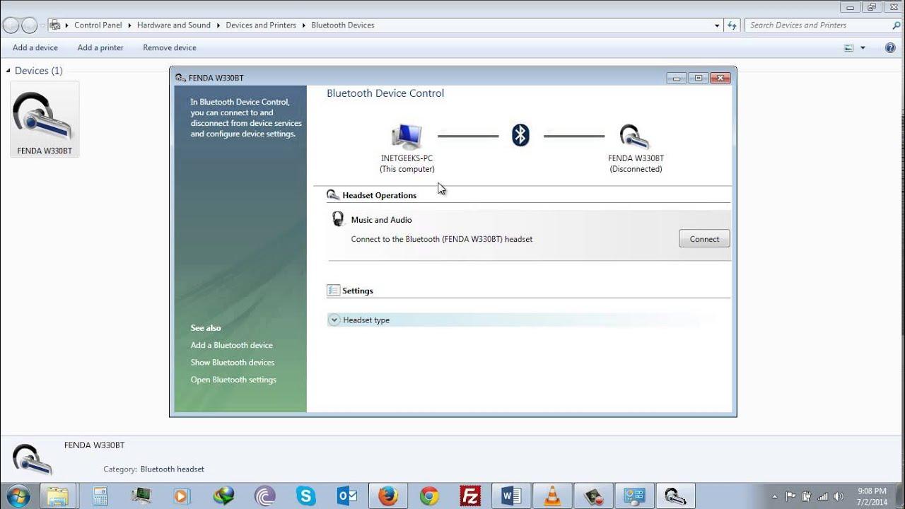 Bluetooth Windows 7