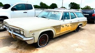 Copart Walk Around + 1966 Chevy Caprice Wagon 7-11-2020