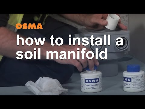 How to install a soil manifold - OSMA Soil & Waste