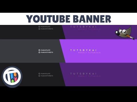 Gimp Tutorial - How to create a simple clean MINIMALISTIC YouTube banner for FREE | TutsByKai thumbnail
