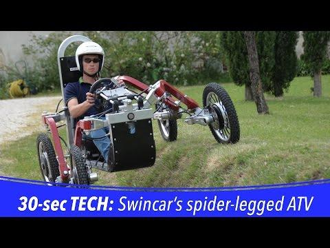 30 sec TECH: Swincar all-terrain spider car
