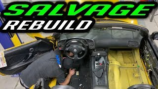 Rebuilding a Wrecked Salvage Honda s2000 Part 14