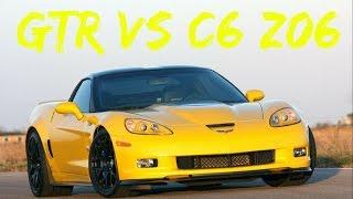 GTR (605 WHP) vs H/I/C C6 Z06 (585 WHP)