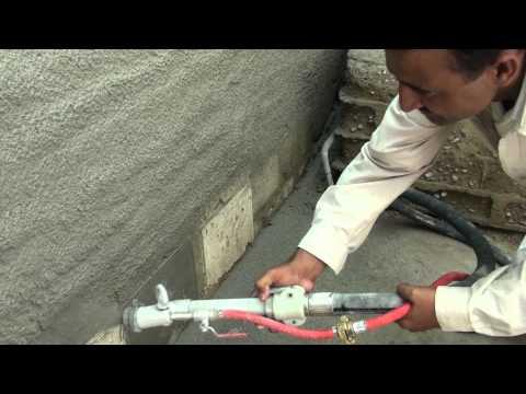 Plaster/Render Spray Machine Operational at Ressichem (Karachi)