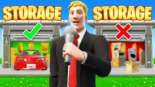 MYTHIC vs TRASH Storage Wars GAMESHOW For LOOT (Fortnite)