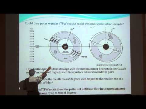 "Andy Biggin: ""Possible links between geomagnetic behaviour and mantle convection"""