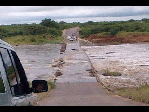Kruger National Park Floods 2014 - H10 Lower Sabie Bridge - 5th March