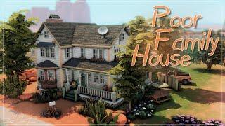 Дом небогатой семьи💰│Строительство│Poor Family House│SpeedBuild│NO CC [The Sims 4]
