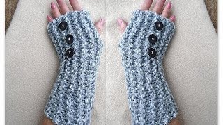 KNITTING PATTERN, Fingerless Gloves, Arm warmers, Beginner level