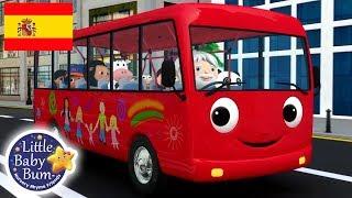 Canciones Infantiles | Las Ruedas del Autobús Rojo | Dibujos Animados | Little Baby Bum en Español