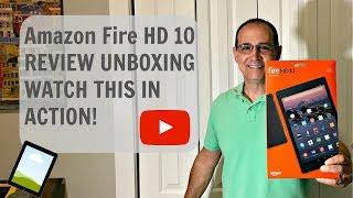 Amazon Fire HD 10 FULL REVIEW UNBOXING WATCH THIS IN ACTION!