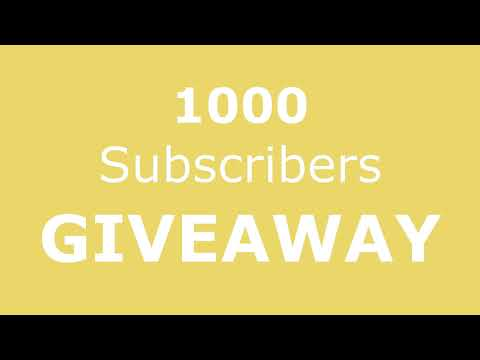 1000 YouTube Subscribers!