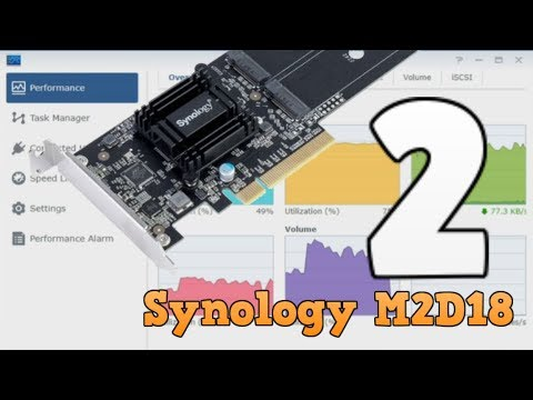 Synology M2D18 Performance Tests HDD and NVMe Caching - NAS