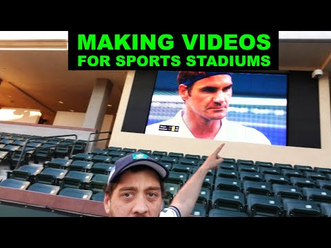 I make videos for the big screens at major tennis tournaments. I thought you guys might find this interesting. Avid Tennis fan as well. AMA