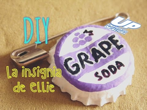 ... Ellie - Disney Pixar UP - Grape Soda Pin - Ellie Badge DIY - YouTube