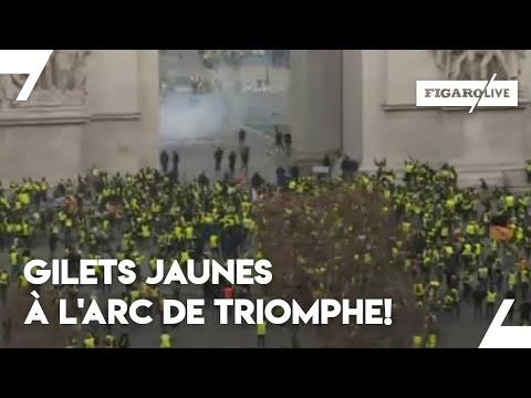Ces «gilets jaunes» chantent la Marseillaise à l'Arc de Triomphe
