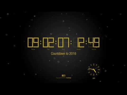 Countdown to 2016 free screensaver preview hd youtube - How to make a countdown your wallpaper ...