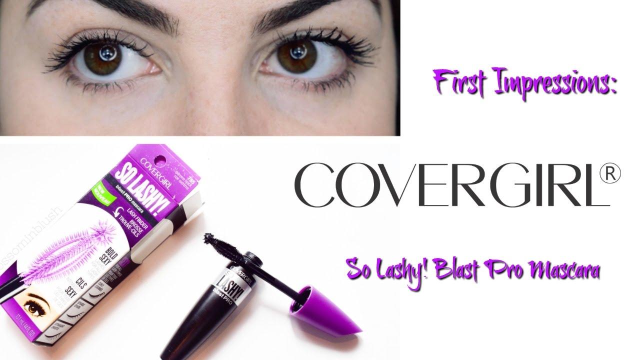 95839e7e177 First Impressions | NEW Covergirl So Lashy! Blast Pro Mascara (REVIEW +  DEMO) - YouTube