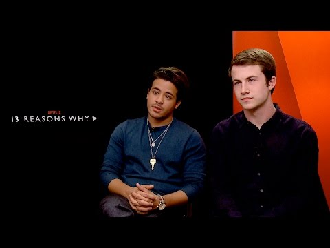 Dylan Minnette & Christian Navarro 13 Reasons Why Interview