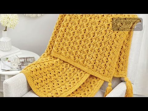 Crochet Golden Waves Throw + Tutorial | The Crochet Crowd