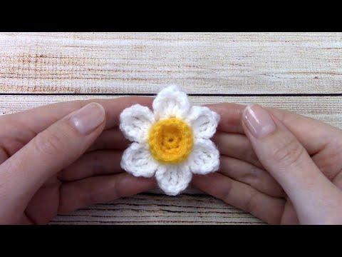 Весенний цветок крючком