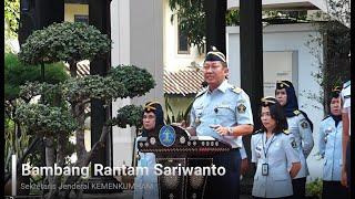 Sekretaris Jenderal Kemenkumham : BPSDM Hukum dan HAM Harus Berubah