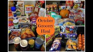 Huge October Costco, Trader Joe's, & Target Grocery Haul & Meal Plan