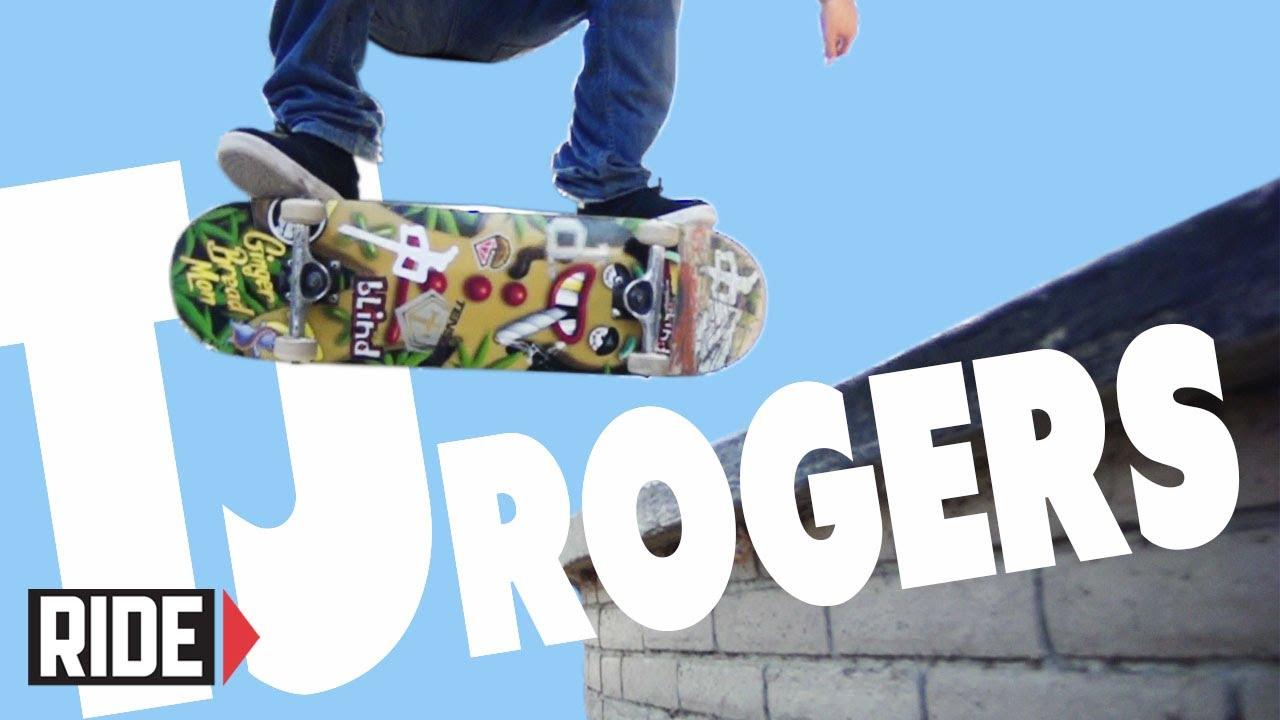 Download TJ Rogers Skateboarding in Slow Motion - Halfcab Heelflip Noseslide Bigspin Out
