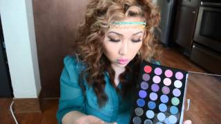 bh cosmetics 28 colors smokey eye pallet swatches