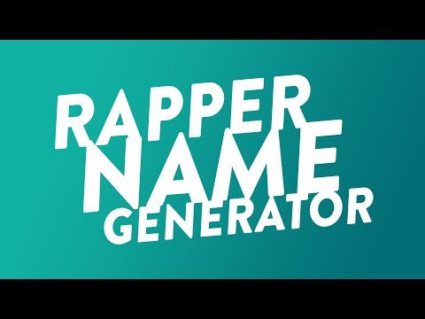 Rapper Name Generator