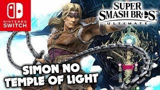 Liberando Simon Belmont no Temple of Light do modo aventura de Super Smash Bros. Ultimate